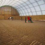 Riders using the Indoor