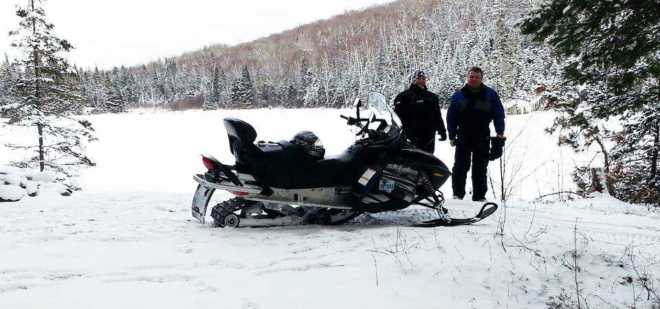guided snowmobiling tours near algonquin park ontario