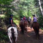 Campers on a trail ride
