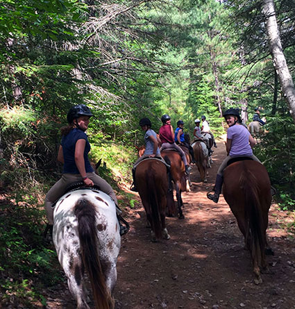 trail riding girls